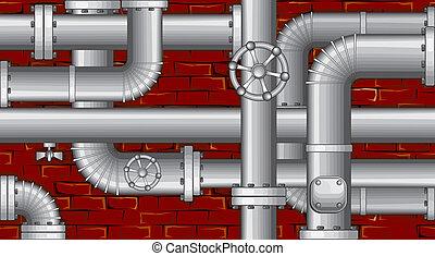 Telón de fondo industrial