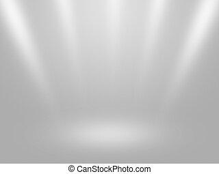 Telón de fondo interior blanco
