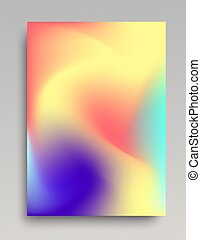 Telón de fondo ondulado colorido
