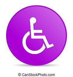 tela, accesibilidad, brillante, violeta, círculo, icono