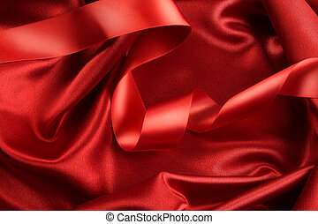 tela, color, rojo, rico, cinta raso