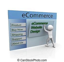 tela, concepto, diseño, seguro, ecommerce
