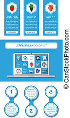 tela, elementos, ui, infographics