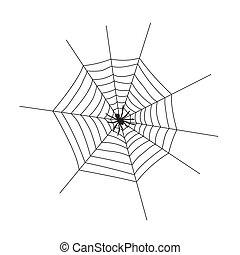 tela, fondo., ilustración, silueta, blanco, vector