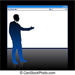 tela, plano de fondo, blanco, hombre de negocios, página, examinador