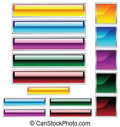 tela, scaleable, botones, variado, brillante, colores, cuadrados, rectángulos