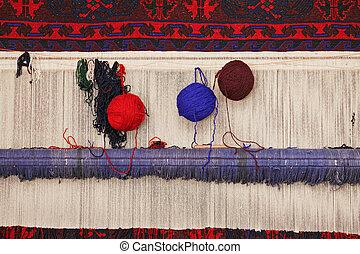 Telar de alfombra