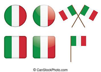 Telas con bandera italiana
