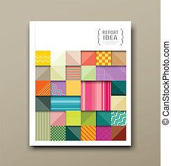 Telas cuadradas de colores