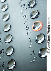 telclado numérico, elevador