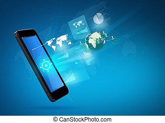 Telefonía móvil de la tecnología de comunicación moderna