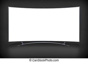Televisión de pantalla ancha curvada