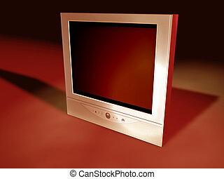televisión, flatscreen