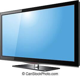 televisión, pantalla plana