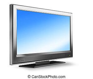televisión, pantalla plana, plasma