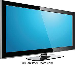 televisión, plasma, lcd