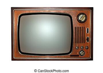 televisión, viejo, televisión
