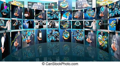 Televisión y producción de Internet. Tecnología y empresa de negocios
