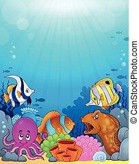 Temática del océano bajo el fondo 5