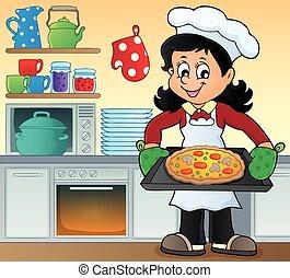 Tema de cocina femenina