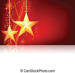 Tema de Navidad de oro rojo