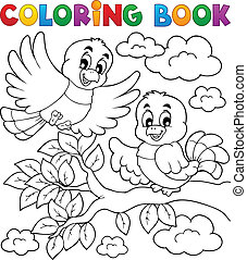 Tema de pájaro de color 2
