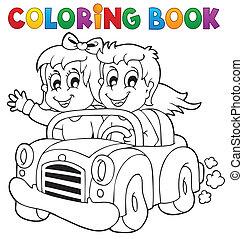 Tema del auto de color