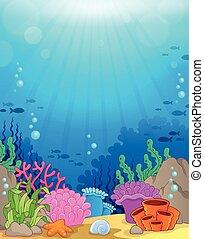 Tema del océano bajo el agua 3