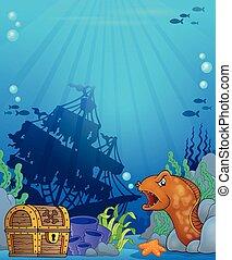 Tema del océano bajo el agua 6