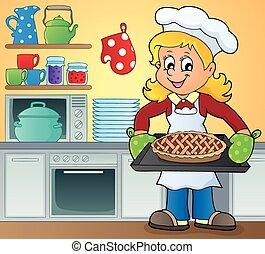 Tema femenina de cocina: 9