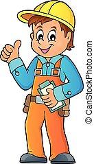 tema, trabajador construcción, imagen, 3