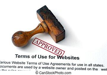 Temas de uso de sitios web