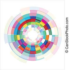 Temperatura abstracta colorida