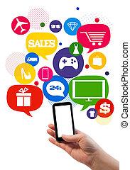 Temperatura de ventas/shop en línea