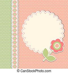 Temperatura de vitrina con flor