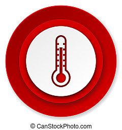 temperatura, señal, icono, termómetro