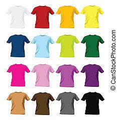 Temperaturas coloridas de camiseta
