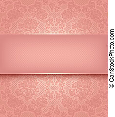Temperaturas de encaje, flores rosas adornadas