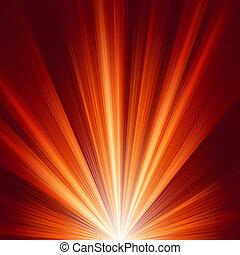 Templa con una luz de color caliente. EPS 8