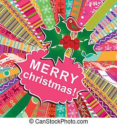 Templa la tarjeta de Navidad, Vector