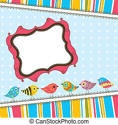 Templa tarjeta de felicitación, vector