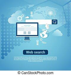 Templad el estandarte de internet con el concepto de búsqueda en Internet