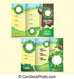 Templancia de diseño de folletos