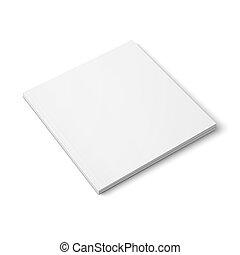 template., revista, grueso, blanco, cuadrado