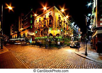 Temple Bar Street en Dublin, Irelan
