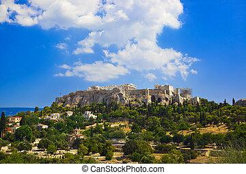 Templo acrópolis en Atenas, Grecia