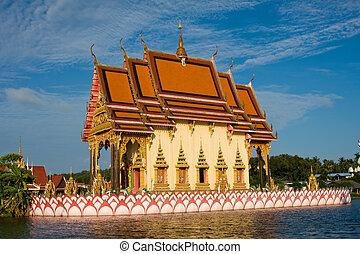 Templo budista en la isla Koh Samui, Tailandia