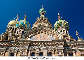 templo, russia., spas-na-krovi., st.petersburg.
