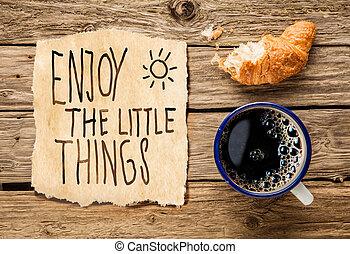 temprano, desayuno, inspirador, mañana
