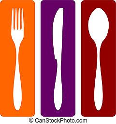 tenedor, cuchillo y cuchara